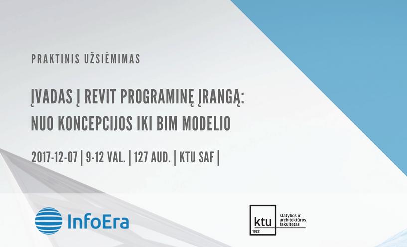Įvadas į Revit programinę įrangą nuo koncepcijos iki bim modelio