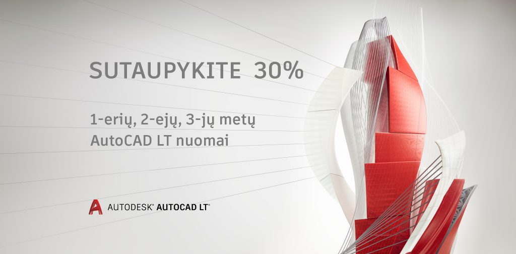 AutoCAD LT akcija - 30 proc
