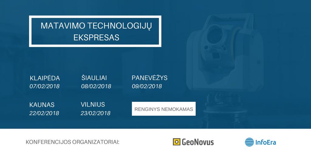 Matavimo technologijų ekspresas konferencija matininkams 2018