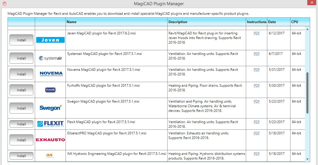 MagiCAD plugin manager