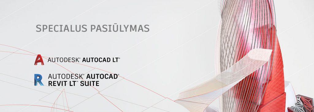 Akcija AutoCAD LT Revuit LT suite