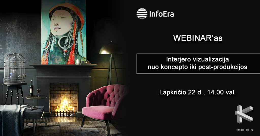 Internetinis seminaras apie interjero vizualizacijas