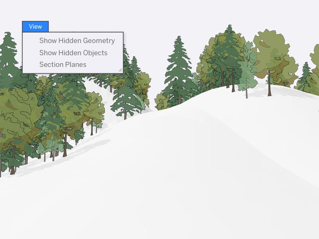 Sketchup 2020 Geresnis nematomų objektų valdymas