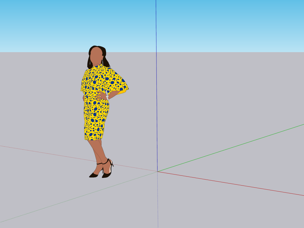 Scale axis SketchUp 2021